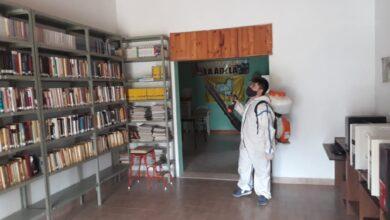Photo of Cuidado comunitario: En La Adela realizan tareas de desinfección